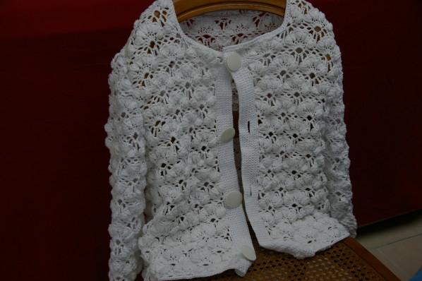 Crochet Cardigan Blanc Manches 34 Tutoriel Gratuit Blog