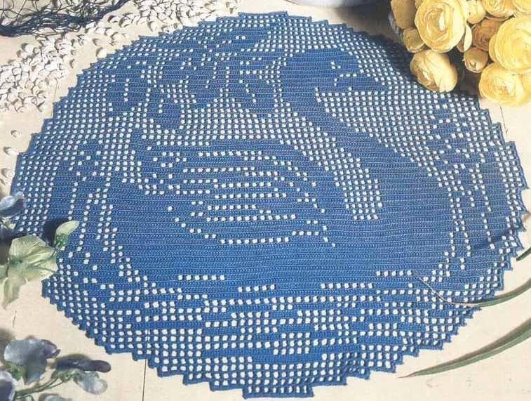 Crochet Napperon En Filet Cygne Tutoriel Gratuit Blog